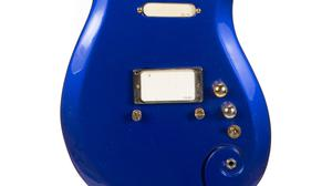 "Prince's ""Blue Angel"" Cloud 2 guitar, used at the height of the revered rock star's career throughout the 1980s and 90s, has fetched 563,500 dollars (about £456,000) at auction (Julien's Auctions/PA)"