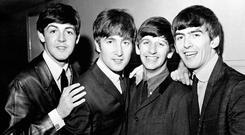 Paul McCartney, John Lennon, Ringo Starr and George Harrison in the Beatles (PA)
