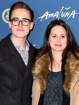 Tom Fletcher, pictured here with his wife, Giovanna, made a musical speech at his own wedding and the video went viral (Ian West/PA)
