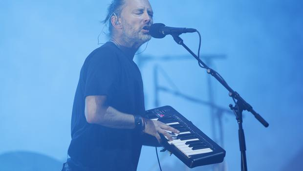 Thom Yorke of Radiohead on the Pyramid Stage (Yui Mok/PA)
