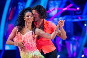 Vick Hope and her Strictly Come Dancing partner Graziano Di Prima (Guy Levy/BBC/PA)