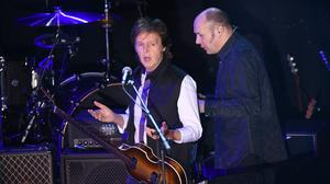 Sir Paul McCartney and his band perform a secret Valentine's Day concert at New York's Irving Plaza (AP)