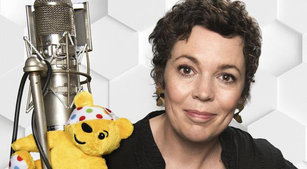 Olivia Colman, who admitted that singing on an album of covers in aid of BBC Children In Need was 'really scary' (BBC/Ray Burmiston)