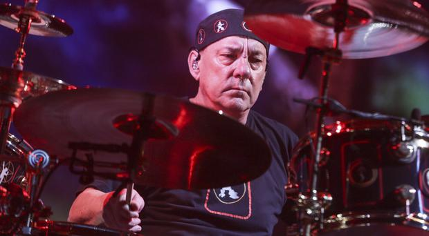 Neil Peart of Rush has died (Photo by Rich Fury/Invision/AP, File)
