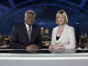 Sir Trevor McDonald with Julie Etchingham on the News At Ten (ITV/PA)