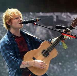 Ed Sheeran has seen the biggest rise in Spotify streams of artists performing at Glastonbury this year