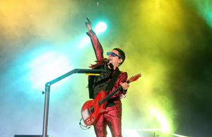 Matt Bellamy on stage with Muse (Niall Carson/PA)