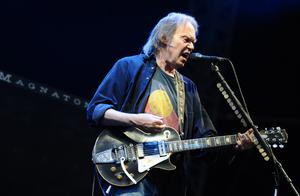 Neil Young on stage at Hard Rock Calling, in Hyde Park, London (Ian West/PA)