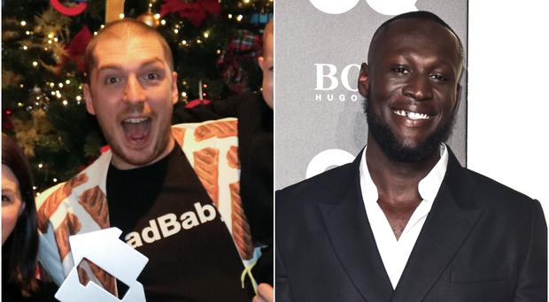 Youtuber LadBaby and Stormzy battling it out for Christmas number one (OfficialCharts.Com/PA)