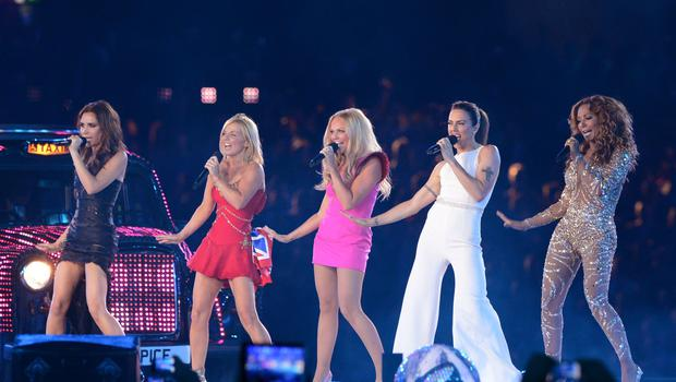 The Spice Girls on stage (Anthony Devlin/PA)