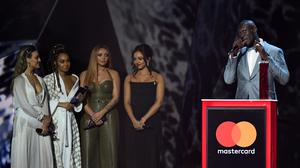 Stormzy accepting the award for Best British Solo Male Artist during the 2018 Brit Awards show (Victoria Jones/PA)