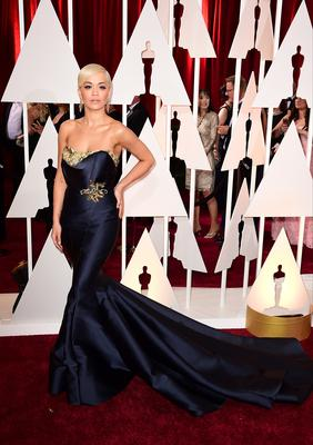 Rita Ora arriving at the 87th Academy Awardsin 2015 (Ian West/PA)