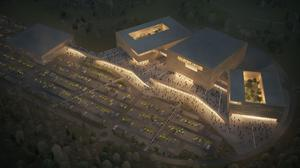 A CGI image of how the arena would look at night (Lothian Leisure Development/PA)