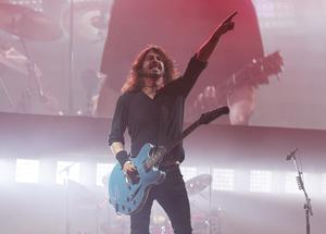 Dave Grohl during the band's headline set at Glastonbury (Yui Mok/PA)