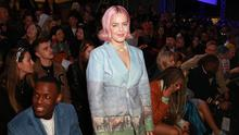 Anne Marie attends the Central Saint Martin's MA show at London Fashion Week as a digitally generated version of model Adwoa Aboah is unveiled, showcasing Three's 5G technology (Matt Alexander/PA)