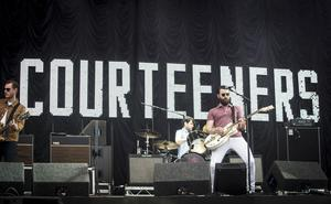 The Courteeners lead singer Liam Fray performs during the Leeds Festival at Bramham Park, West Yorkshire (PA wire)