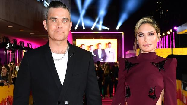 Robbie Williams and Ayda Field Williams (Ian West/PA)