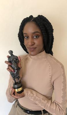 Mysie with her rising star award (The Ivors Academy/PA)
