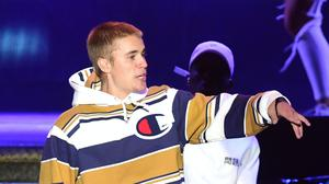 Justin Bieber has teamed up with Ariana Grande (Ian West/PA)