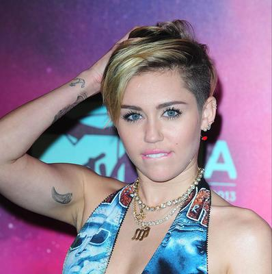 Miley Cyrus got emotional on stage, during a performance in Boston
