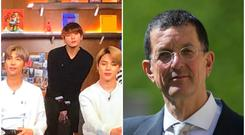 BTS will work with British sculptor Sir Antony Gormley (Sherna Noah/PA)
