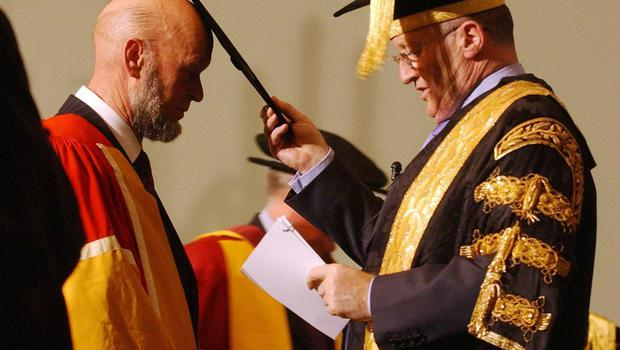 Michael Eavis becomes an honorary Doctor of Arts at University of Bath (Barry Batchelor/PA)