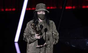It was not a Bad Guy behind the mask, but Billie Eilish, whose wins included top Billboard 200 album for When We All Fall Asleep, Where Do We Go? (AP Photo/Chris Pizzello)