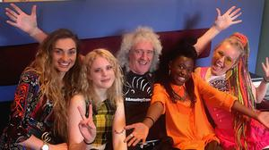 Brian May with Kings Daughters (Kings Daughters/Brian May/PA)