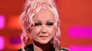 Cyndi Lauper during filming of the Graham Norton Show