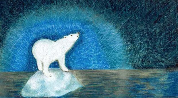 The card features an Arctic polar bear on a melting glacier (Scottish Government/PA)