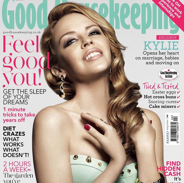 Kylie Minogue says her boyfriend Andres Velencoso has helped her relax