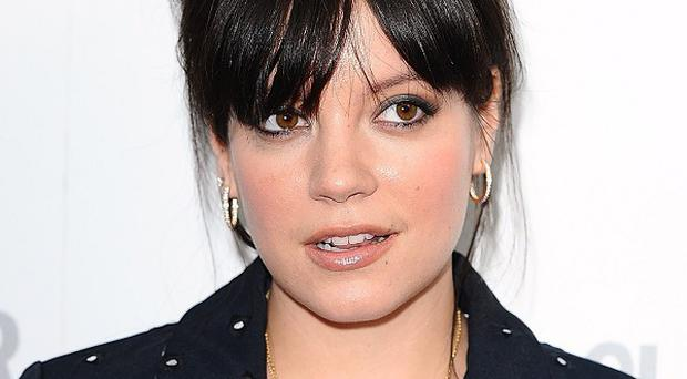 Lily Allen sang her hit Smile at the fashion show