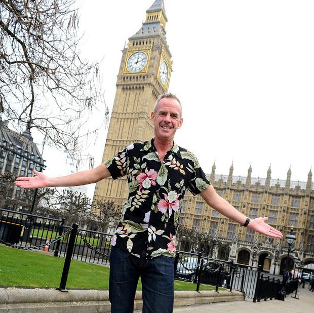 DJ Fatboy Slim ahead of his performance on the Terrace Bar of the House of Commons (Jon Furniss/Invision/AP)
