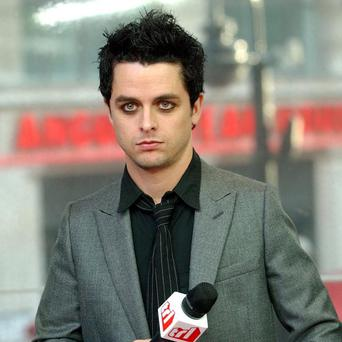 Billie Joe Armstrong from punk rock group Green Day