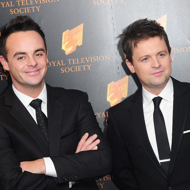 Ant and Dec performed their hit song on Saturday Night Takeaway