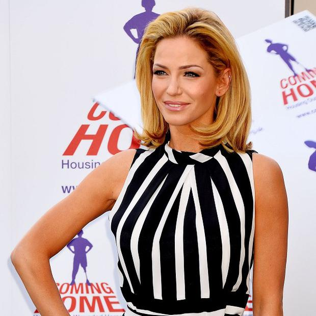 Sarah Harding said her boyfriend has been driving her around