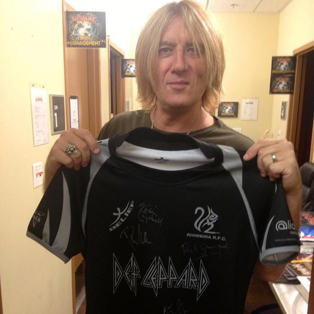 Def Leppard's Joe Elliott thought he was sponsoring a football team