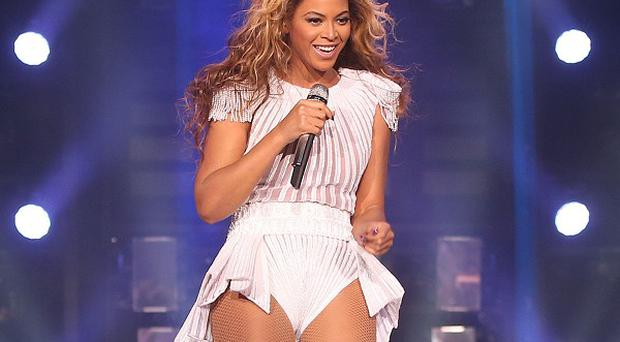Beyonce's management distributed this approved, flattering photo from her show in London