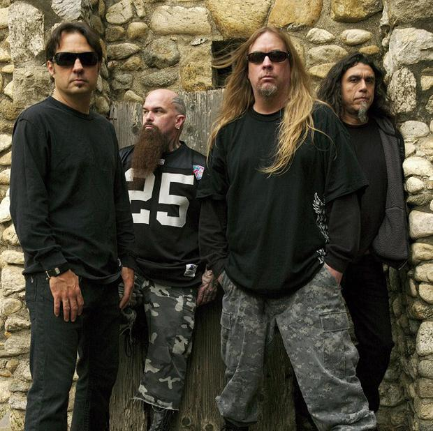 Slayer with Jeff Hanneman second right