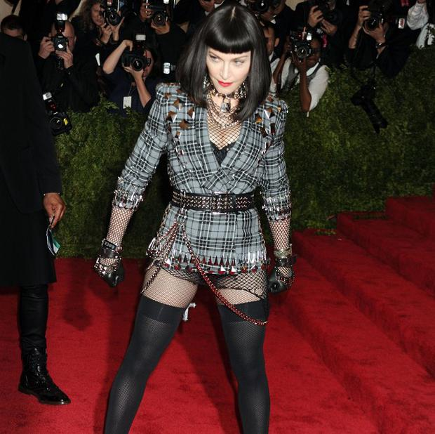 Hilary Devey has taken credit for Madonna's look at the Met ball