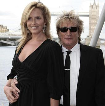 Rod Stewart and Penny Lancaster spent a fortnight apart