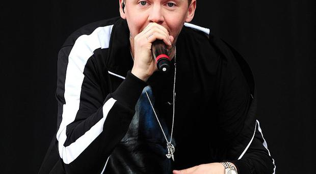 Professor Green was trapped between two cars