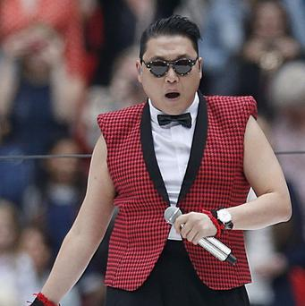 Psy was joined by the Wembley crowd in the Gangnam Style dance