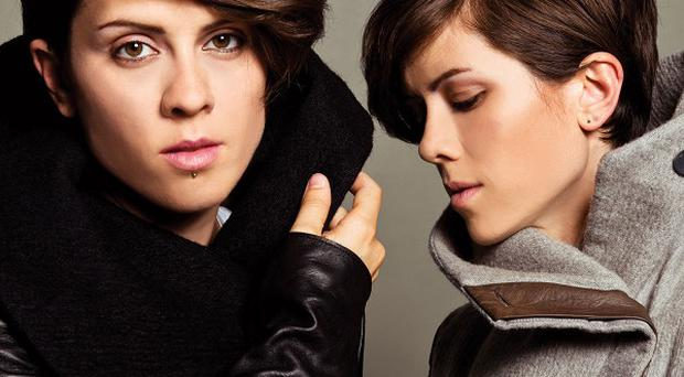 Sisters Tegan and Sara Quin are competitive