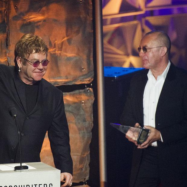 Elton John and Bernie Taupin are honoured at the Songwriters Hall of Fame gala in New York