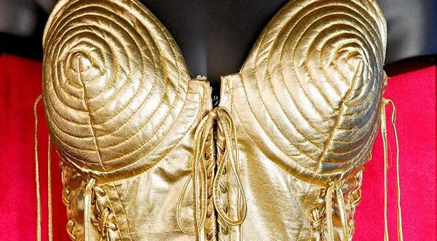 Madonna's gold corset is part of the exhibition