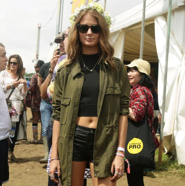 Millie Mackintosh is enjoying her first Glastonbury Festival