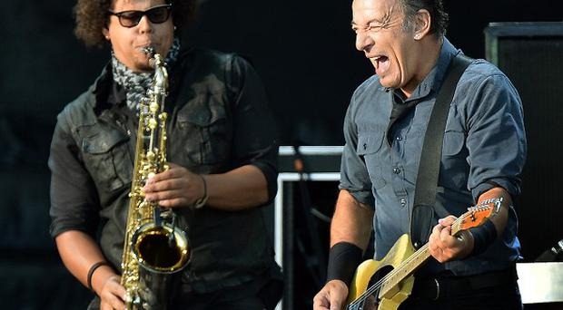 Bruce Springsteen & The E Street Band perform on stage at the Hard Rock Calling festival