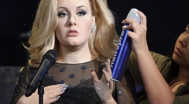 Adele is impressed with her new waxwork