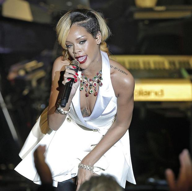 Rihanna eventually took to the stage in Monte Carlo